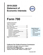 Image of 2019-2020 Form 700 Cover