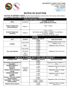 November 2020 Notice of Election
