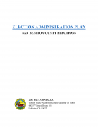 Election Administration Plan